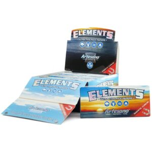 Elements - Artesano King Size Slim Rolling Papers - 15 Packs