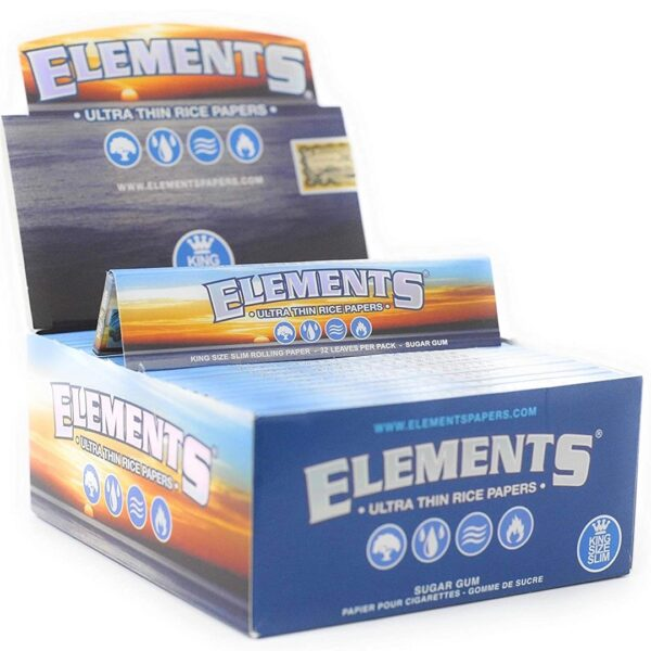 Elements - Connoisseur King Size Slim with Tips - 24 Packs