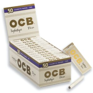 OOCB sophistique ultra thin 1 ¼ size rolling papers with tips