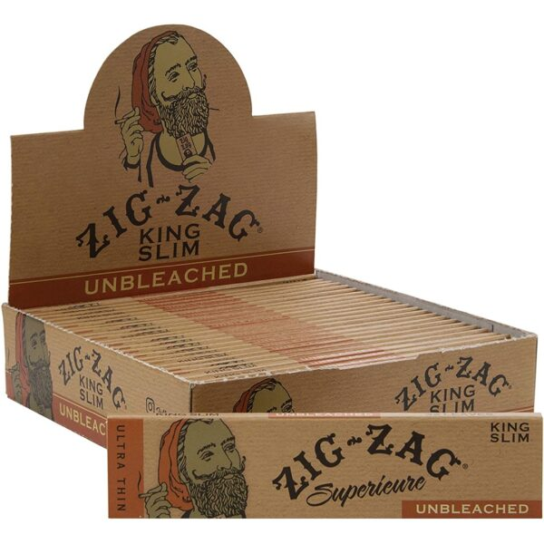 Zig-Zag Unbleached King Slim Rolling Papers